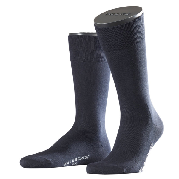 FALKE Cool 24/7 Business Herrensocke gasierte Baumwolle dark navy 1 oder 2 Paar