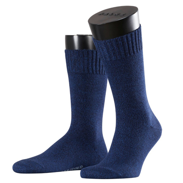 Falke Denim Herren Socken Farbe 6376, dark navy