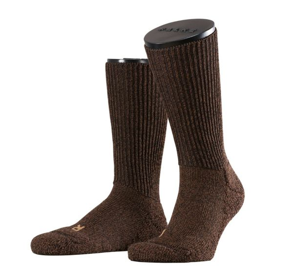 FALKE Walkie Ergo Outdoorsocken aus Merinowolle dark brown