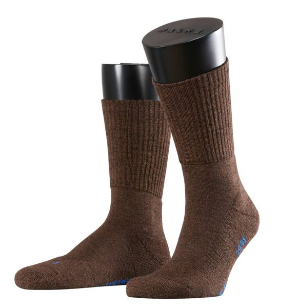 FALKE Walkie Light leichte Outdoorsocken aus Merinowolle dark brown