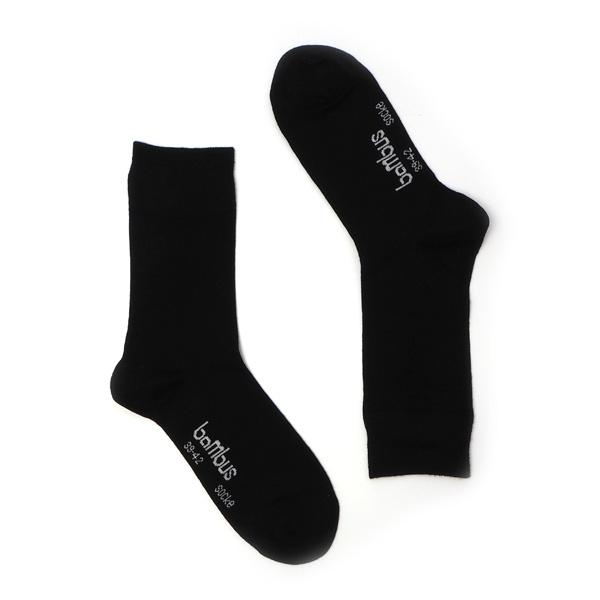 ABO Socken schwarz aus Bambus ohne Gummi ab 10 Paar