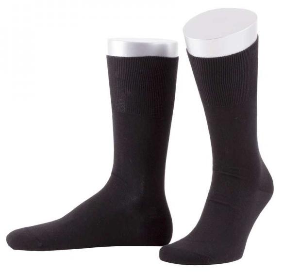 ABO Socken schwarz 92% Baumwolle ohne Gummi Frotteesohle High-End-Qualität ab 4 Paar