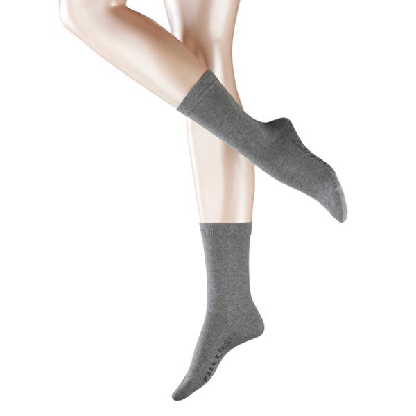 FALKE Family Casual Damen Socken, hellgrau
