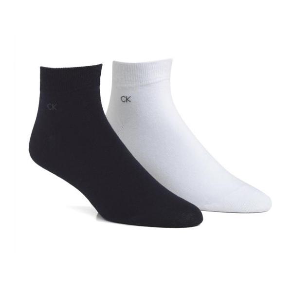 Calvin Klein Quarter-Socken navy/weiß, 6 Paar