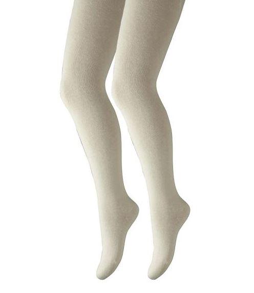 Camano Kinderstrumpfhose ohne einschneidenden Bund offwhite 2 Stück