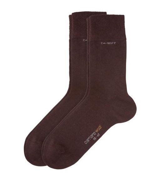 Camano Soft Wool Socken ohne Gummidruck weinrot 4 Paar