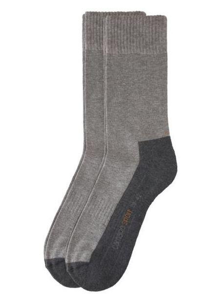 Camano Sport Socken ohne Gummidruck in der Box grau 4 Paar