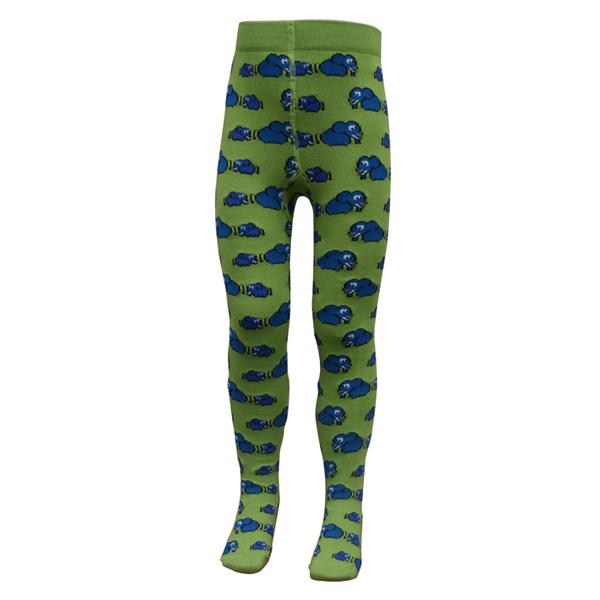 Slugs & Snails Strumpfhose für Babys und Kinder aus Biobaumwolle mit ABS-Sohle Elefanten