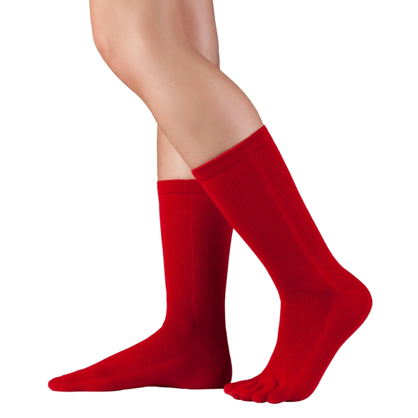 Knitido Essentials Baumwoll-Zehensocken rot