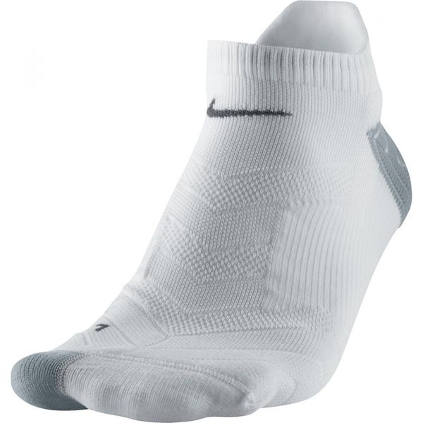 NIKE ELITE Laufsocke - CUSHION NO-SHOW | weiss