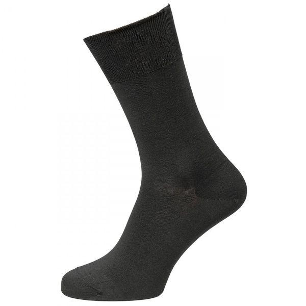 ALBERT KREUZ Elegante Seiden Socke | schwarz