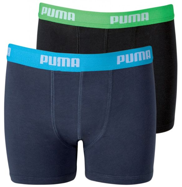 PUMA Basic Boys Boxer 2er | india ink / türkis