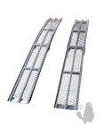 2 x faltbare Aluminium Auffahrrampen für Rasentraktor, TL: 600kg 001