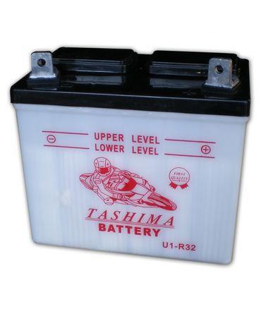 Bleisäure Batterie 12V 32Ah Pluspol links für Rasentraktor, Motorrad