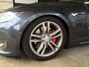 Tieferlegung Koppelstangen Tesla Model S – Bild 3