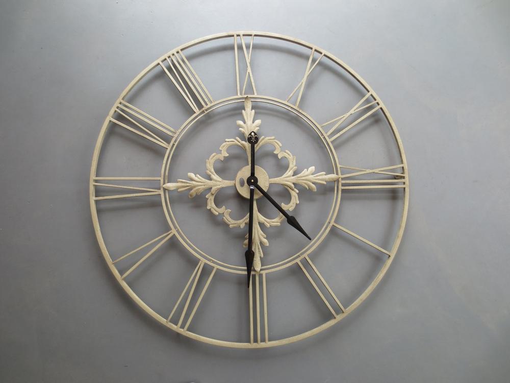 Riverdale · Metall-Wanduhr ' Newbridge ' 102cm · grau-beige – Bild 3