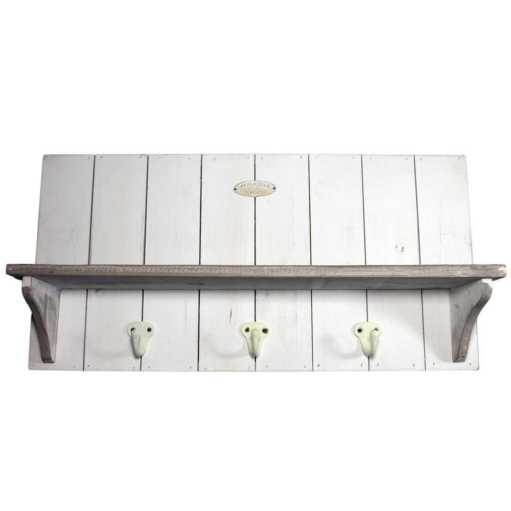 APPLETREE · Holz-Garderobe 50cm ·  weiß – Bild 2