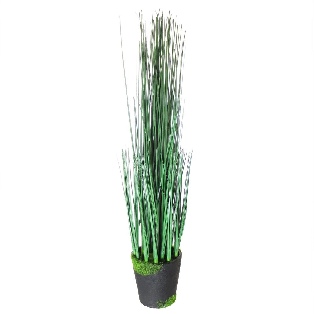 AM-Design · Gras-Kunstpflanze im Topf | Dekopflanze 42cm · grün schwarz – Bild 1