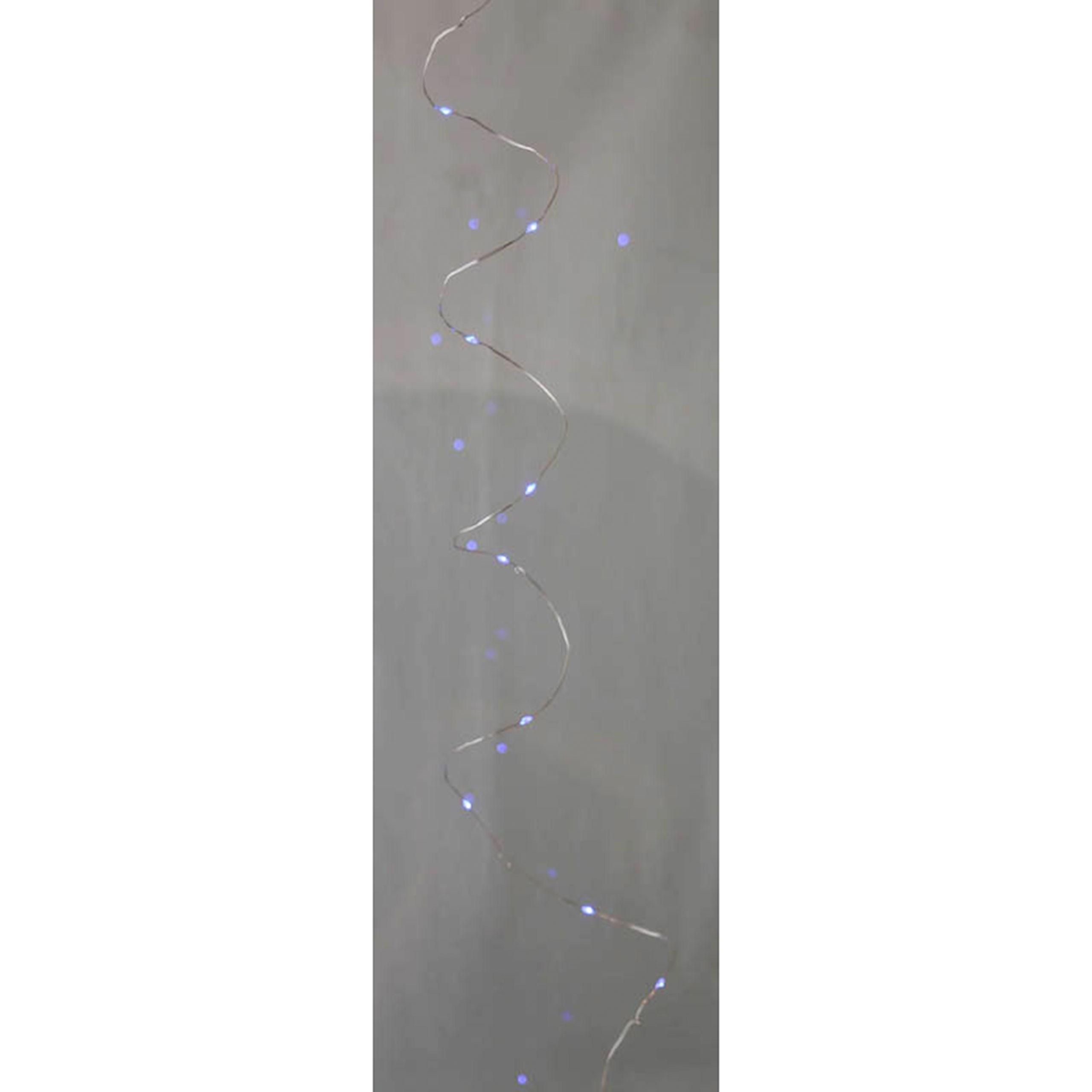 am design led silberdraht indoor lichterkette batterie betrieben 60 lichter blau. Black Bedroom Furniture Sets. Home Design Ideas
