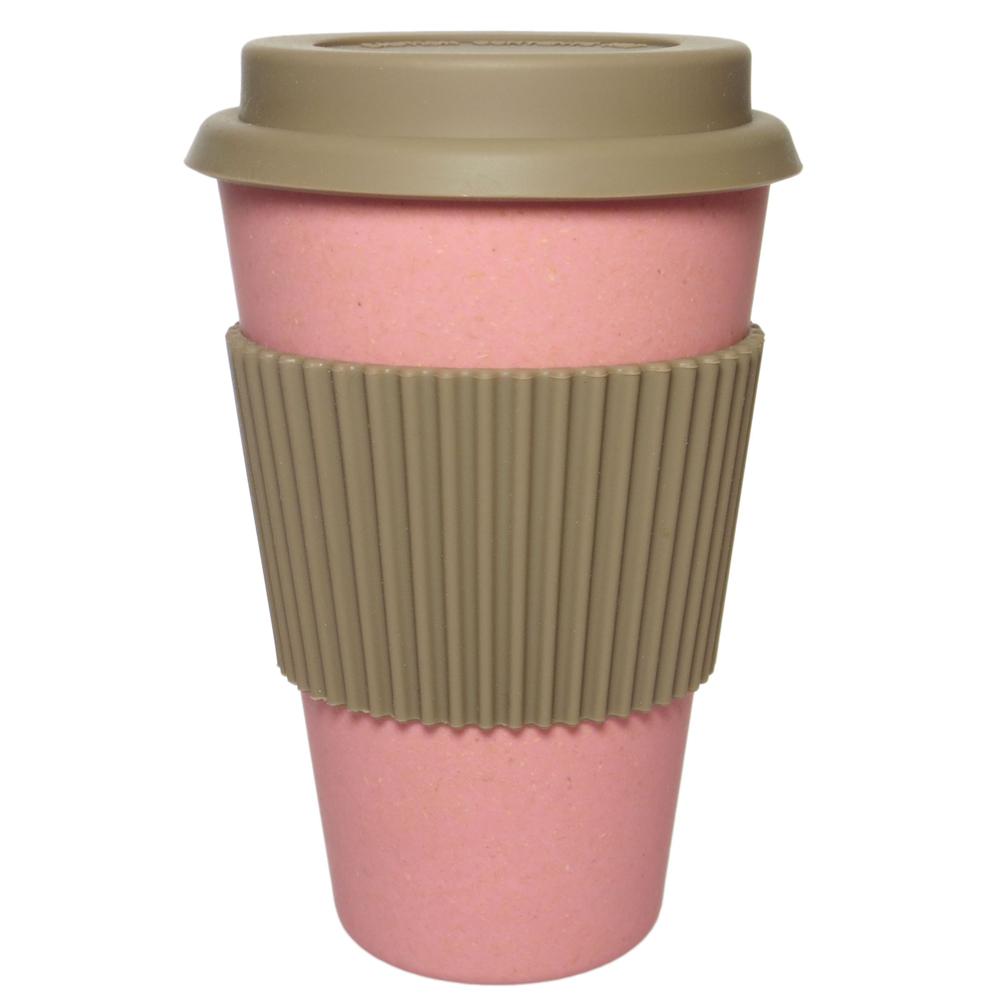 NORDAL · Coffee-to-go Trinkbecher ' BAMBOO ' wiederverwendbar 330ml · coral – Bild 1