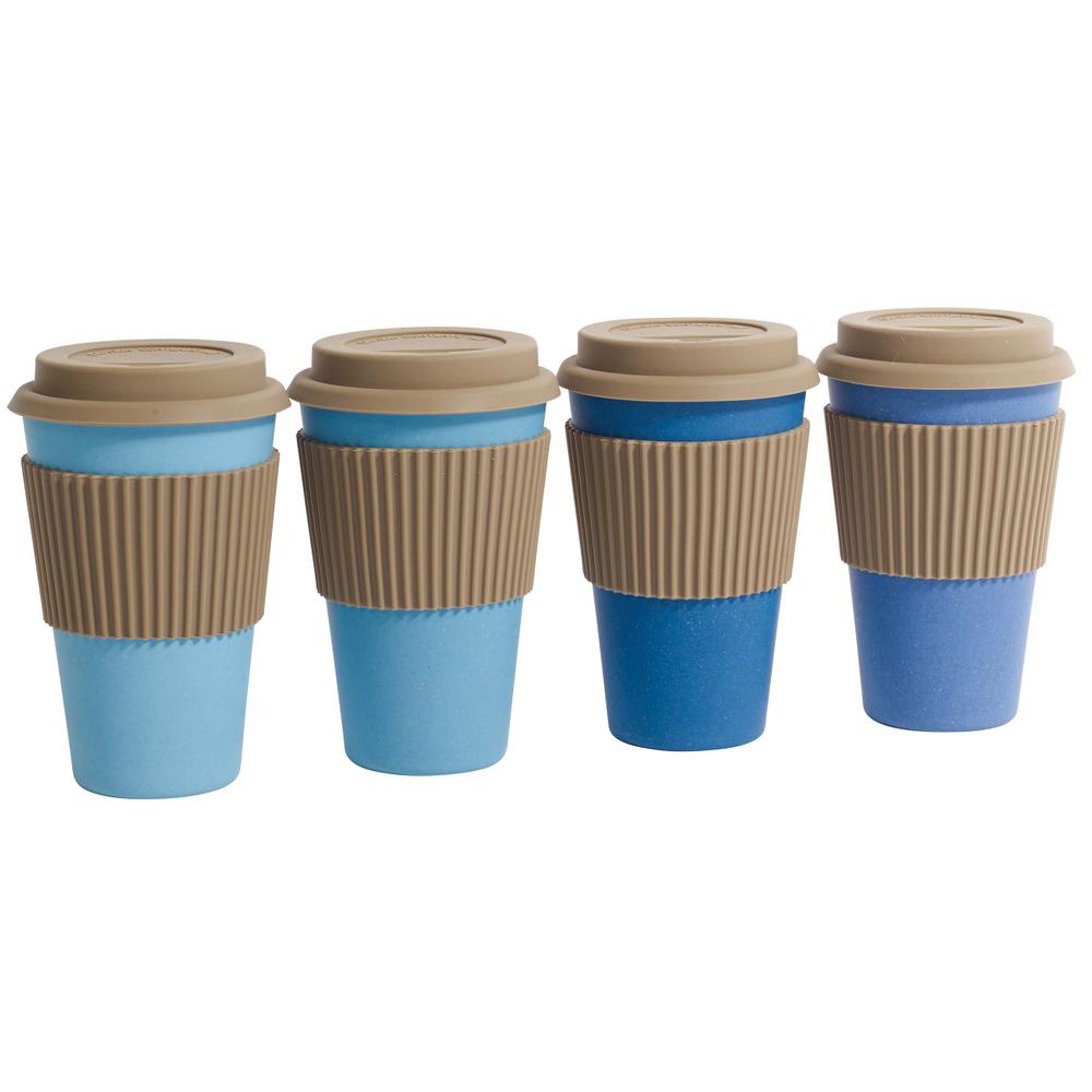 NORDAL · Coffee-to-go Trinkbecher ' BAMBOO ' wiederverwendbar 330ml · coral – Bild 5
