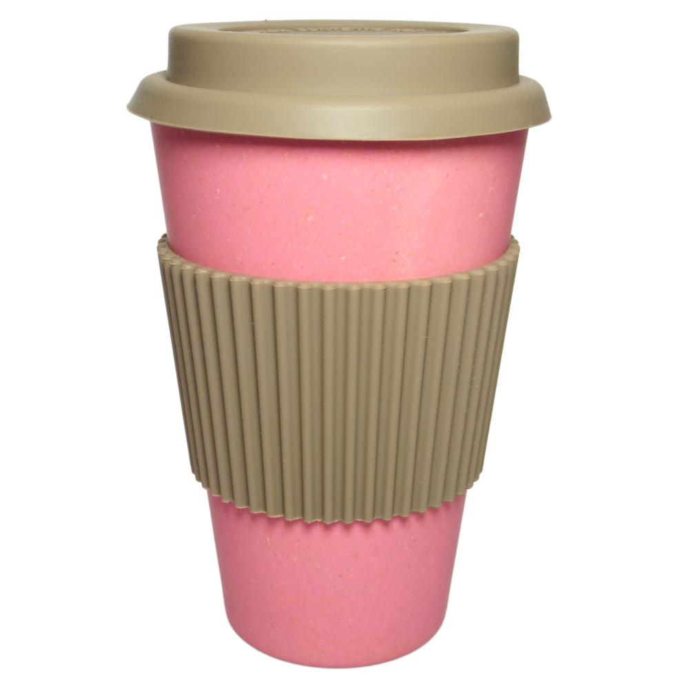 NORDAL · Coffee-to-go Trinkbecher ' BAMBOO ' wiederverwendbar 330ml · rosa-pink – Bild 1