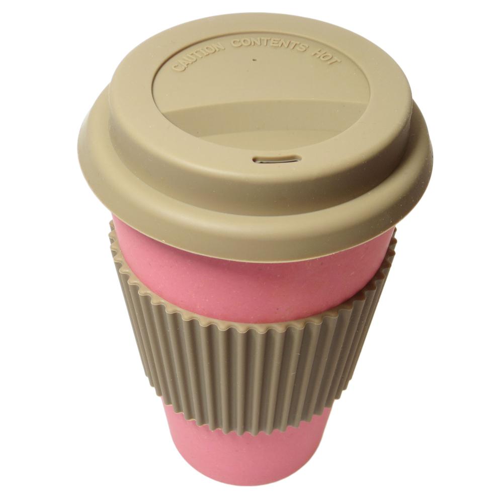 NORDAL · Coffee-to-go Trinkbecher ' BAMBOO ' wiederverwendbar 330ml · rosa-pink – Bild 2