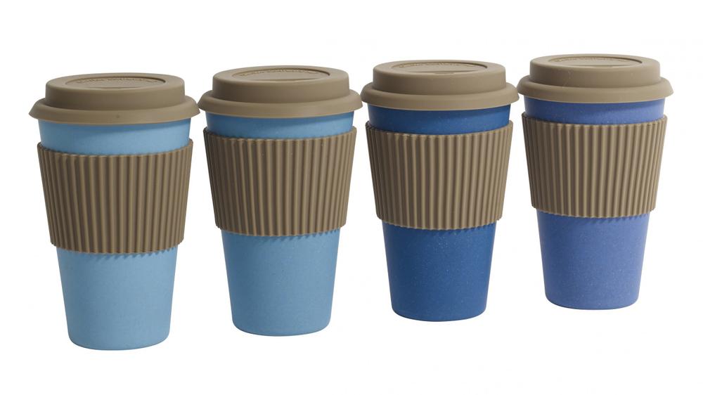 NORDAL · Coffee-to-go Trinkbecher ' BAMBOO ' wiederverwendbar 330ml · königsblau – Bild 4