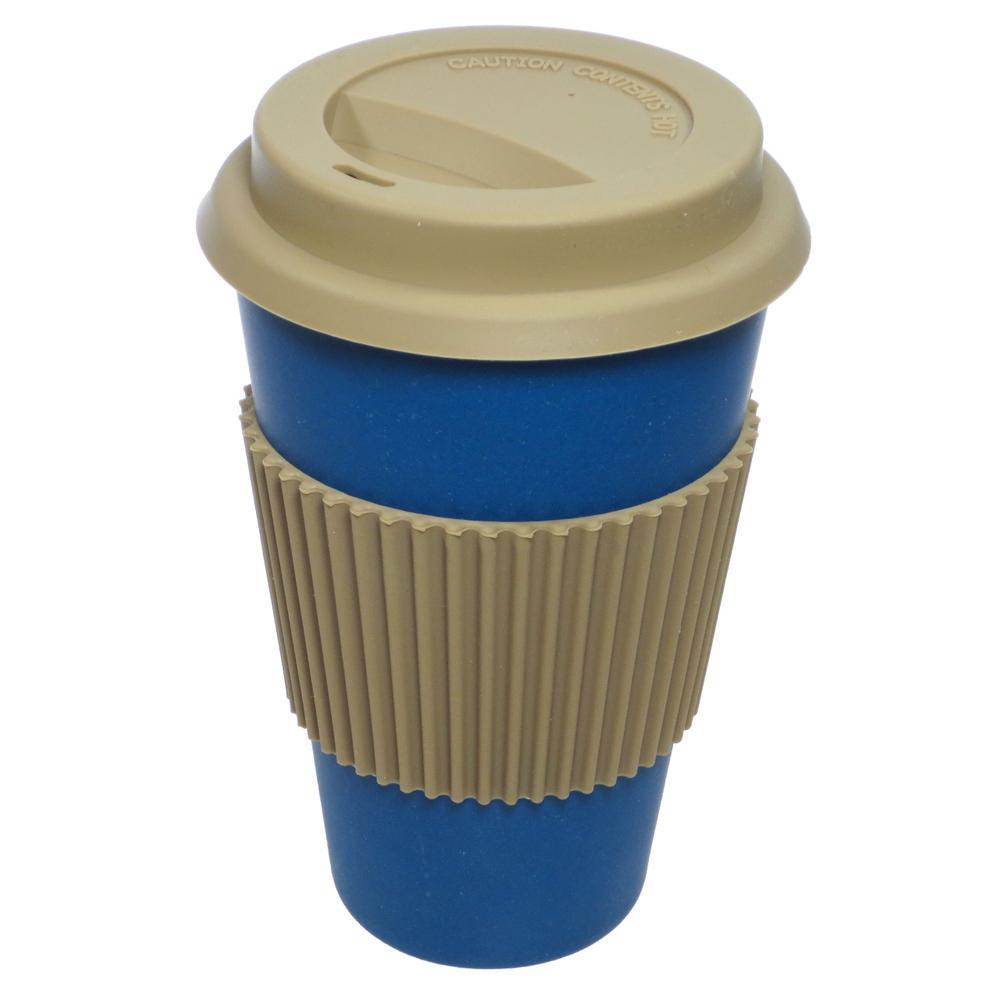 NORDAL · Coffee-to-go Trinkbecher ' BAMBOO ' wiederverwendbar 330ml · königsblau – Bild 1