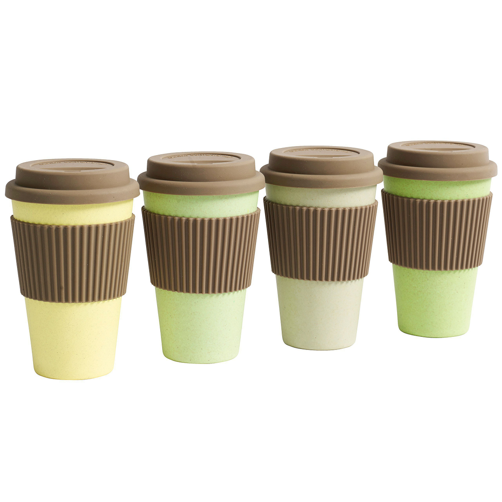 NORDAL · Coffee-to-go Trinkbecher ' BAMBOO ' wiederverwendbar 330ml · stahlblau – Bild 6