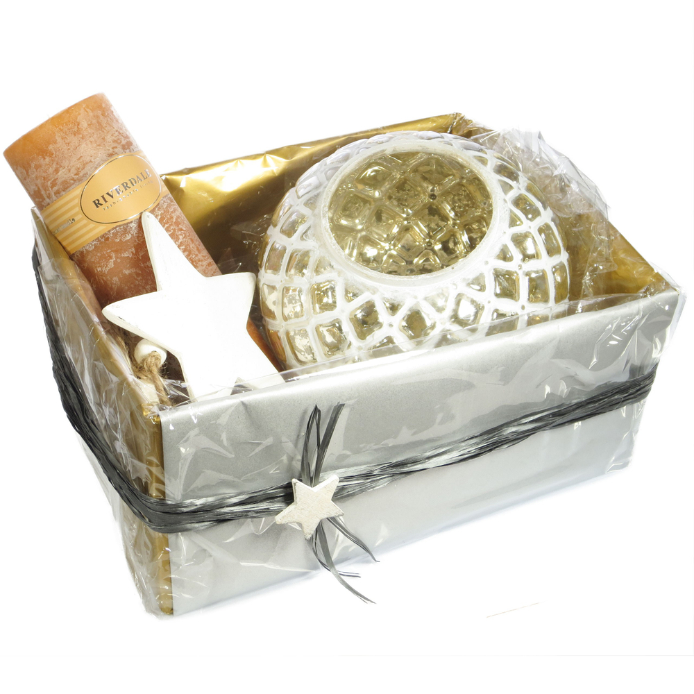 Geschenkverpackung ' Oben-Offen ' gold silber