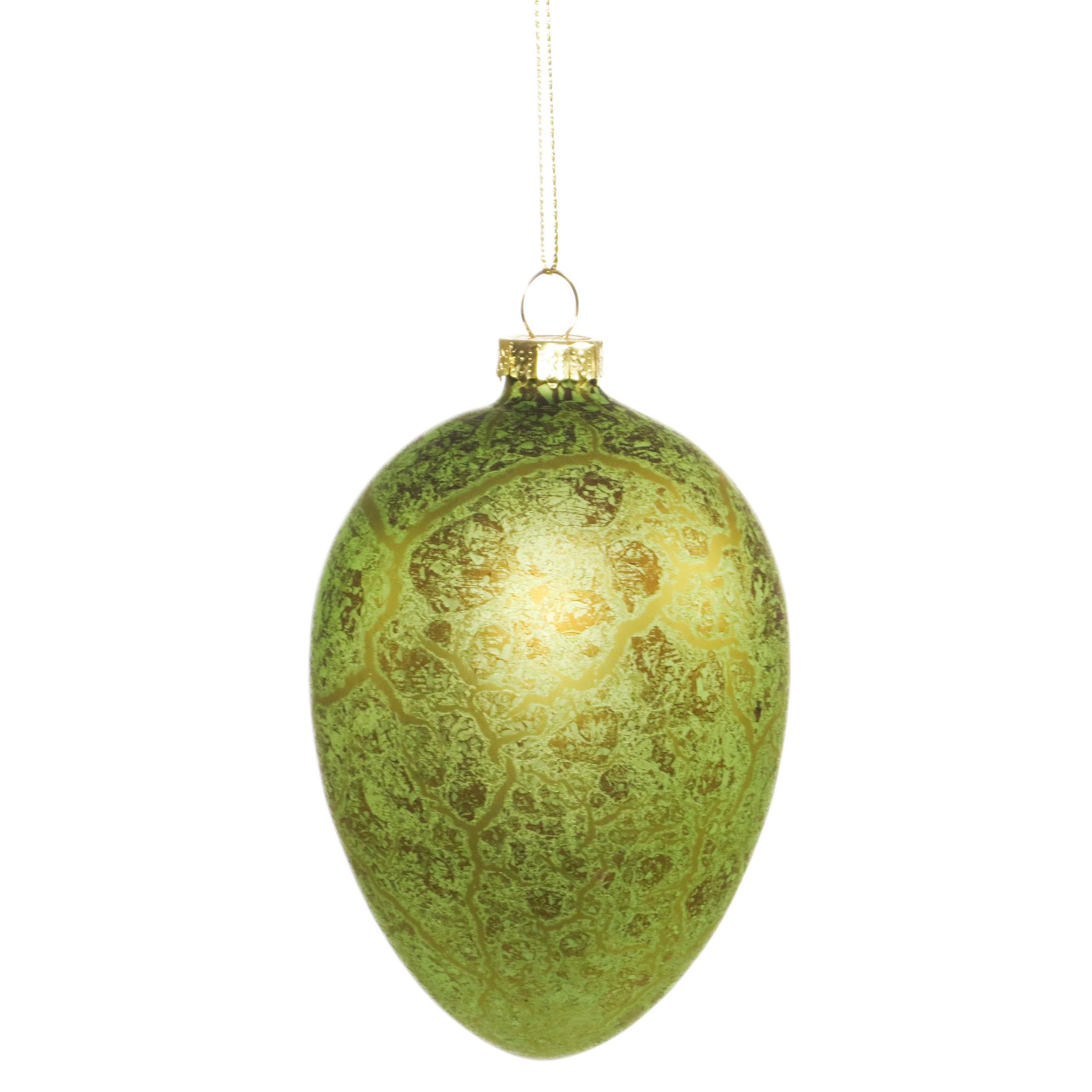 Am Design Deko am design osterei antik aus glas 10cm grün ostern osterei 4878