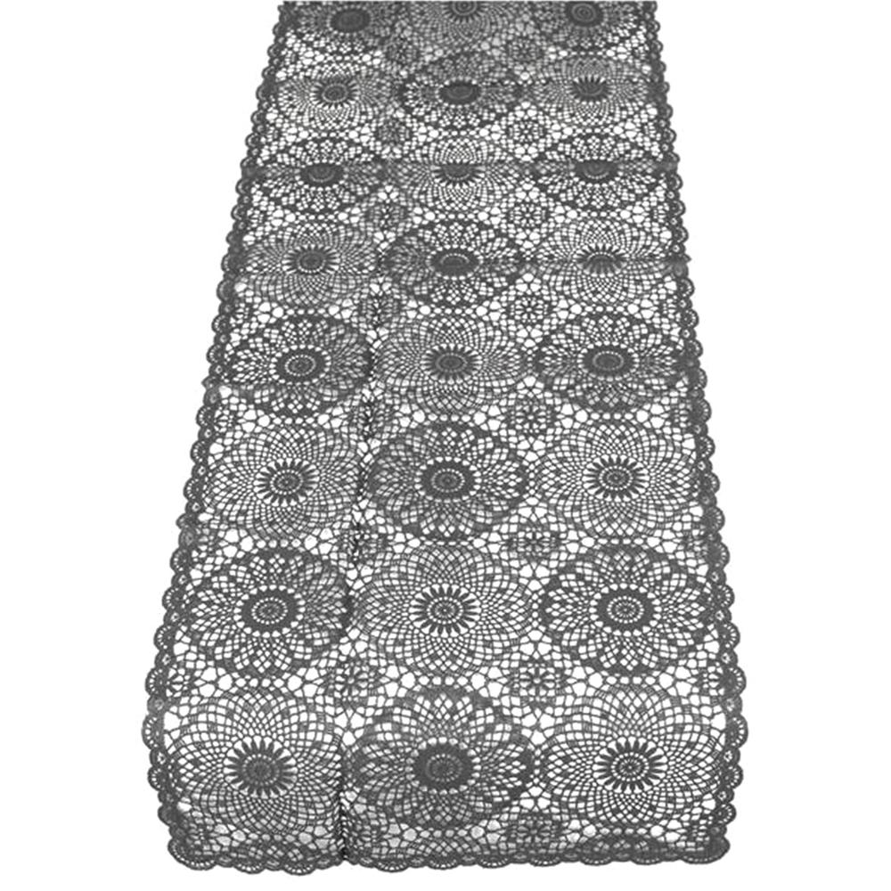 KERSTEN Outdoor-Tischläufer abwischbar wetterfest 'Crochet' 40*150cm · dunkelgrau  – Bild 3