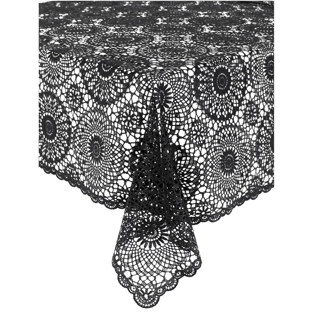 KERSTEN Outdoor-Tischdecke abwischbar wetterfest 'Crochet' Dunkelgrau – Bild 1