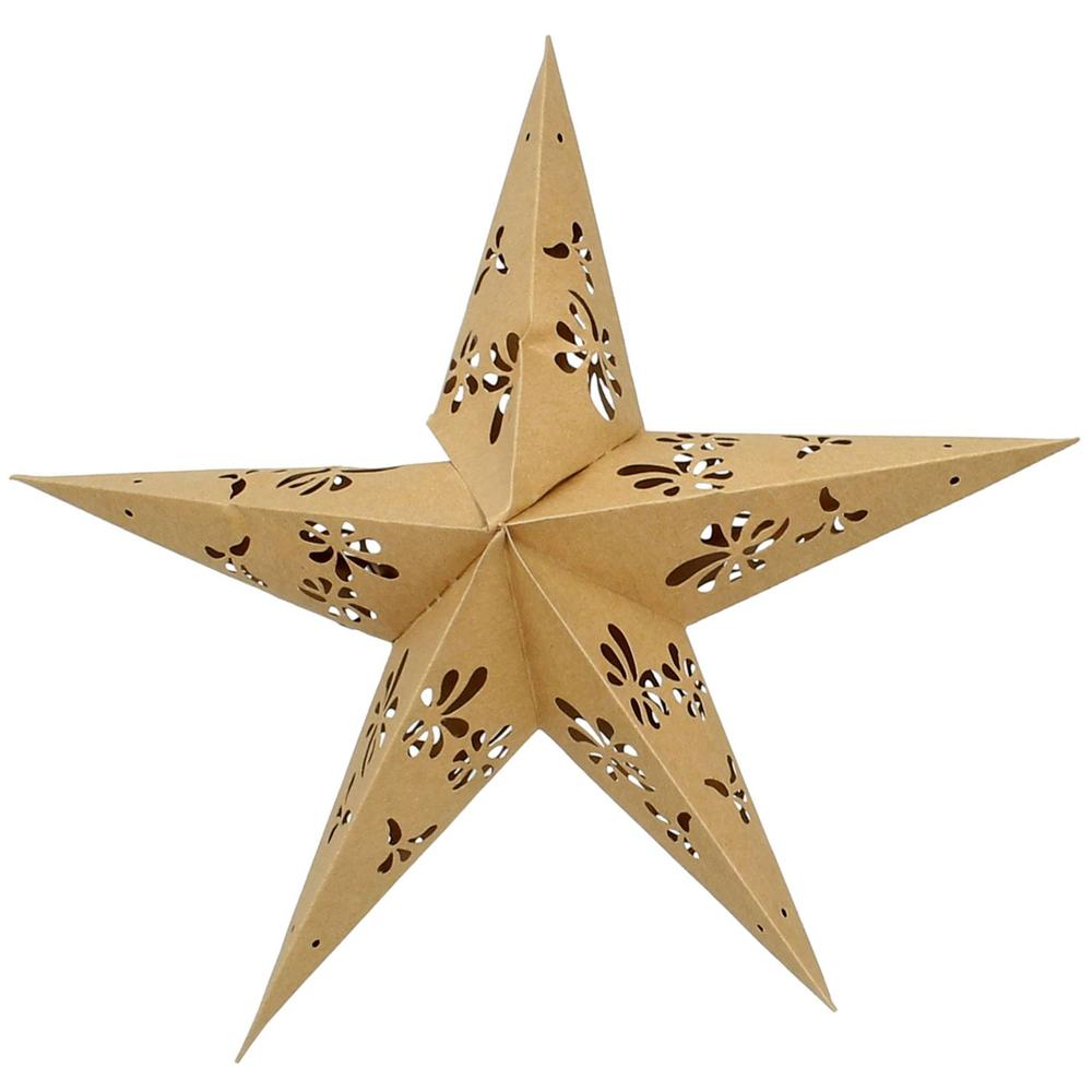 KERSTEN · Papp-Stern ' Ornament ' 30cm · natur – Bild 1
