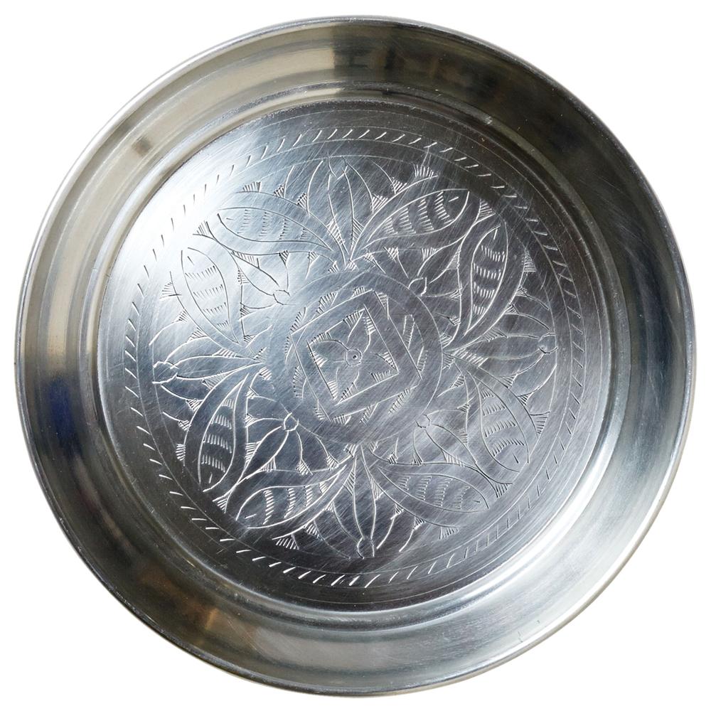 AFFARI · Alu-Teller | Tablett | Servierplatte ' ELDORADO ' 30.5cm · silber
