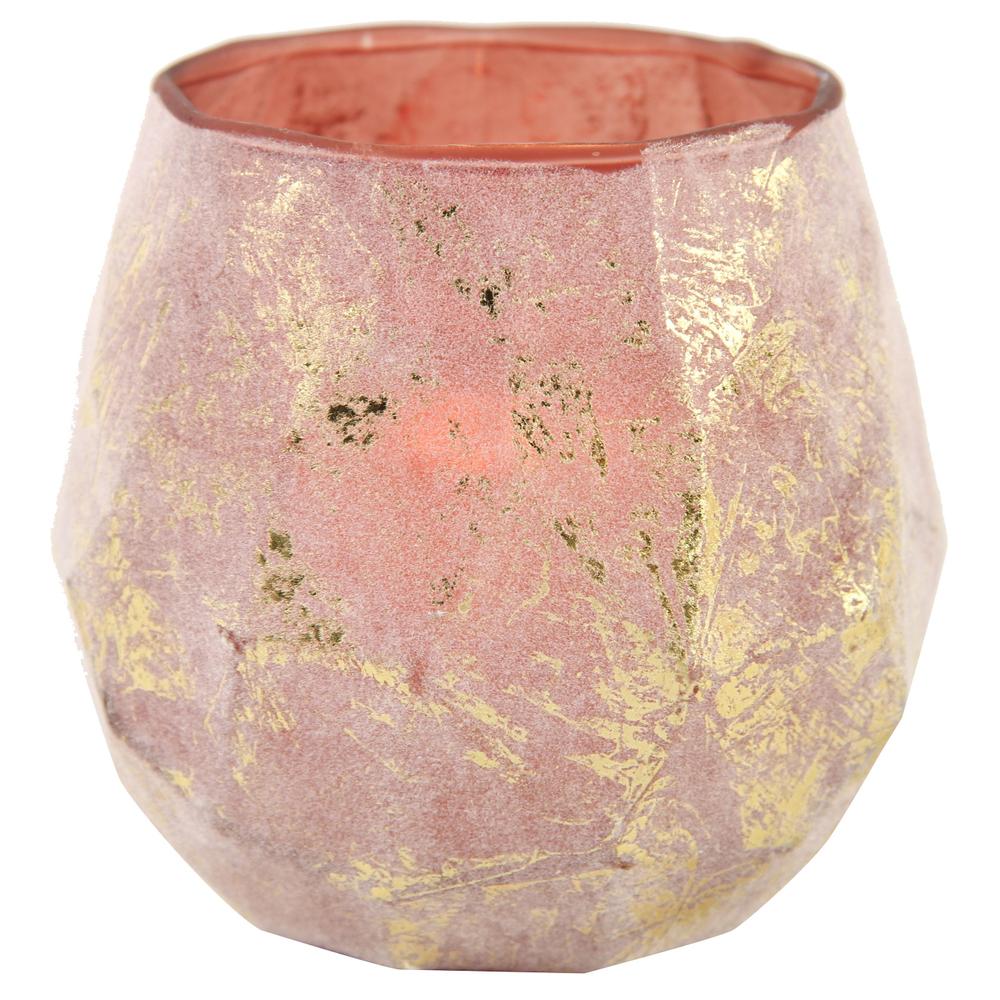 Countryfield · Teelichthalter ANONA 13cm · gold lila braun frost