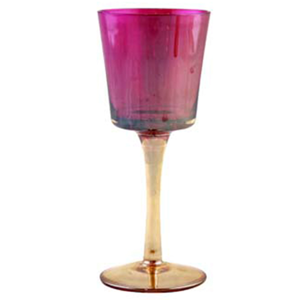 AM-Design · Windlicht-Glas auf Fuß 18cm · purple violett