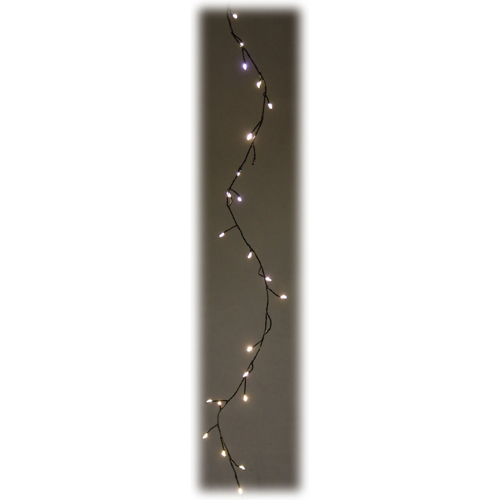 AM-Design · LED-Girlande Flash-Funktion 80 Lichter Indoor-Lichterkette batteriebetrieben Timer 100cm · schwarz warmweiß – Bild 2
