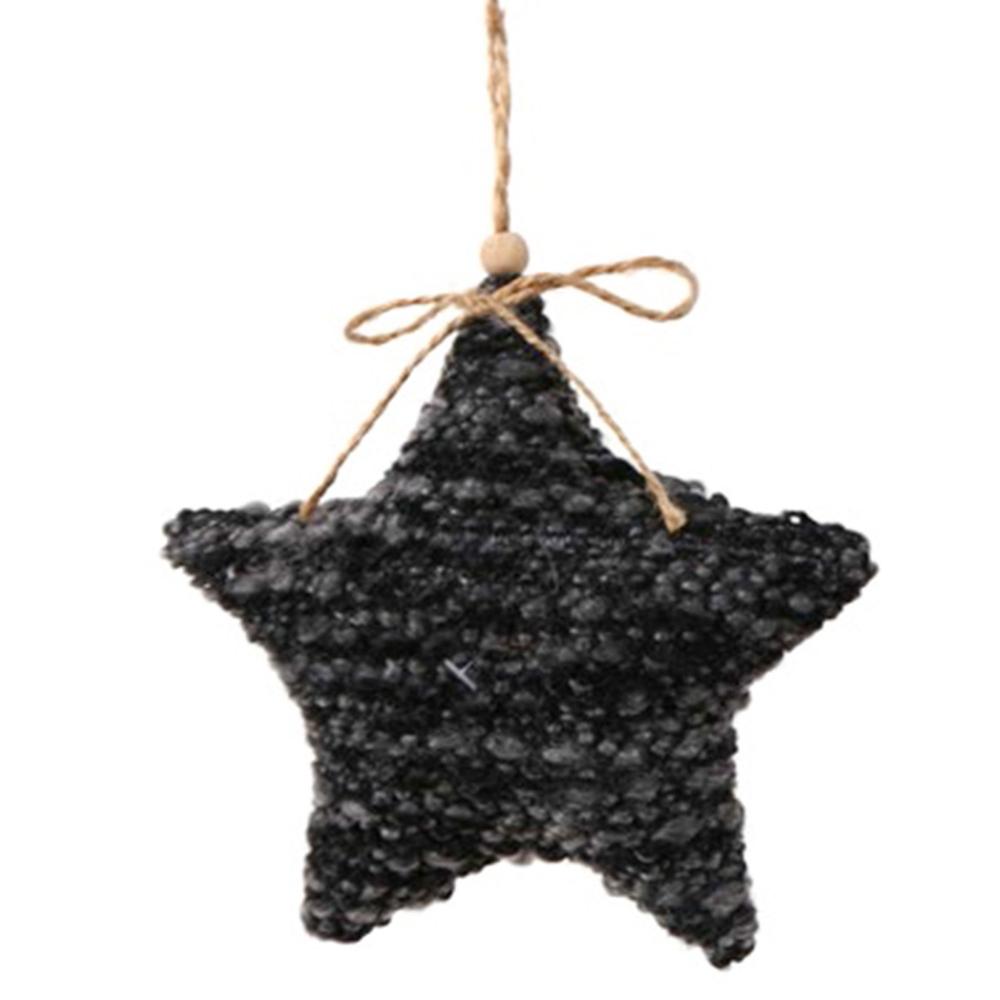 Long Island Living-LIL · Christbaum-Anhänger ' Star ' 15cm · schwarz grau  – Bild 1