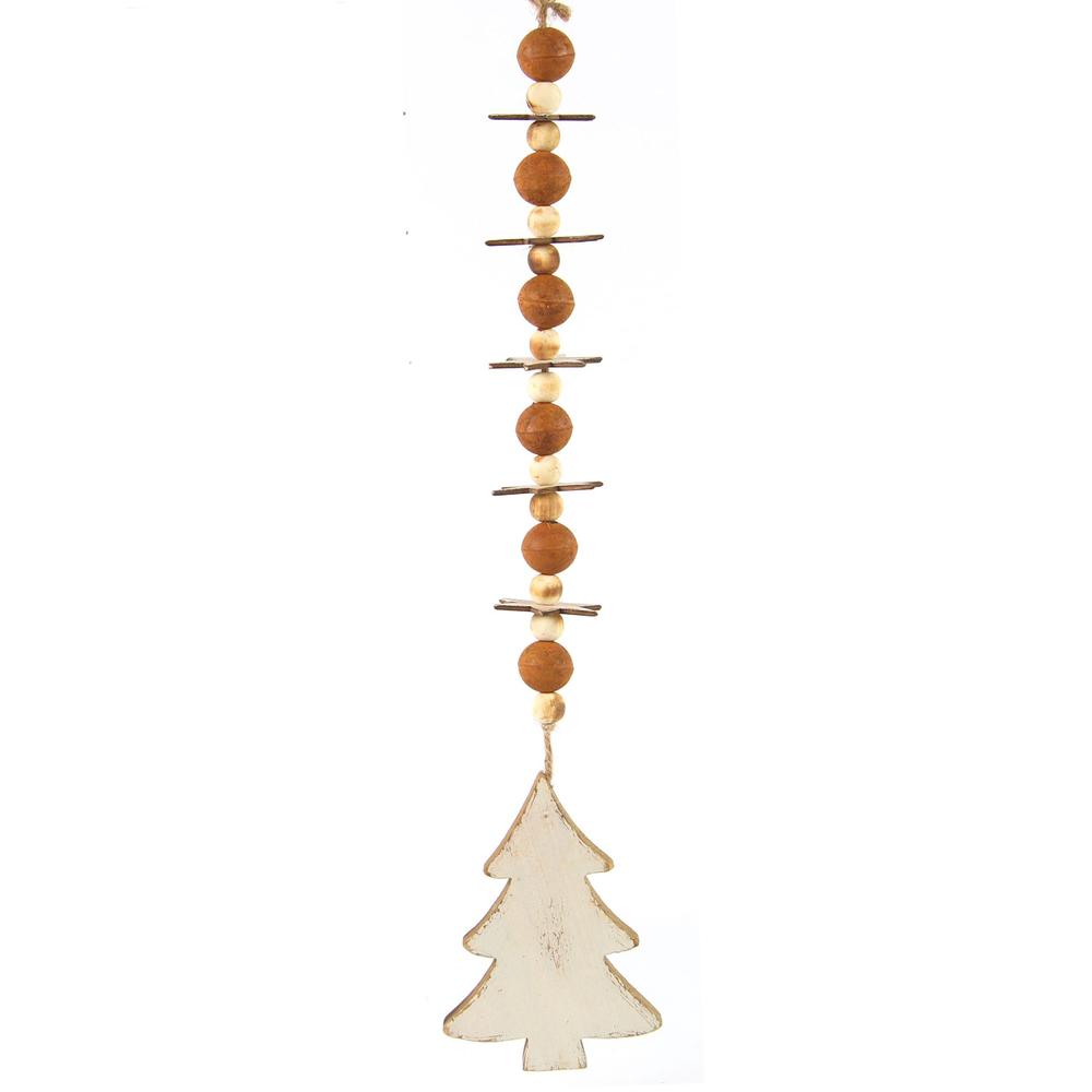 Countryfield · Baum-Girlande Weihnachtsschmuck ' Hallwell ' 60cm · rostbraun creme  – Bild 1