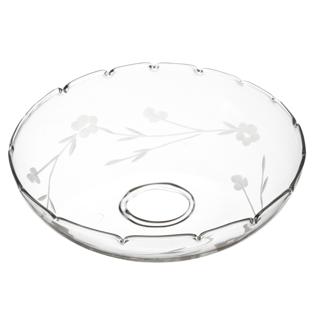AFFARI · Kerzenring | Manschette | Tropfschutz ' TINGLE Flower edge ' · transparent – Bild 1
