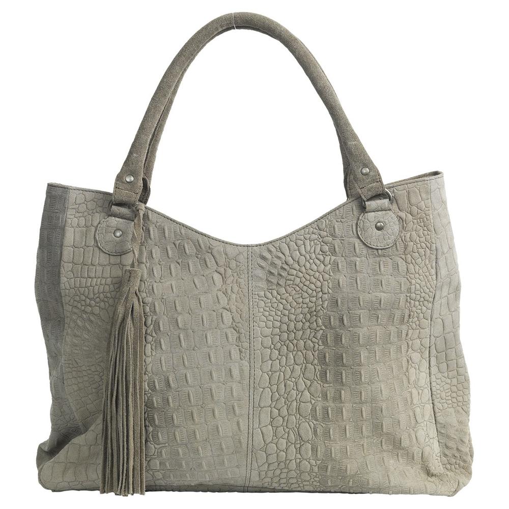theMoshi · Damen-Handtasche Schultertasche ' Agnes ' 50cm · taupe