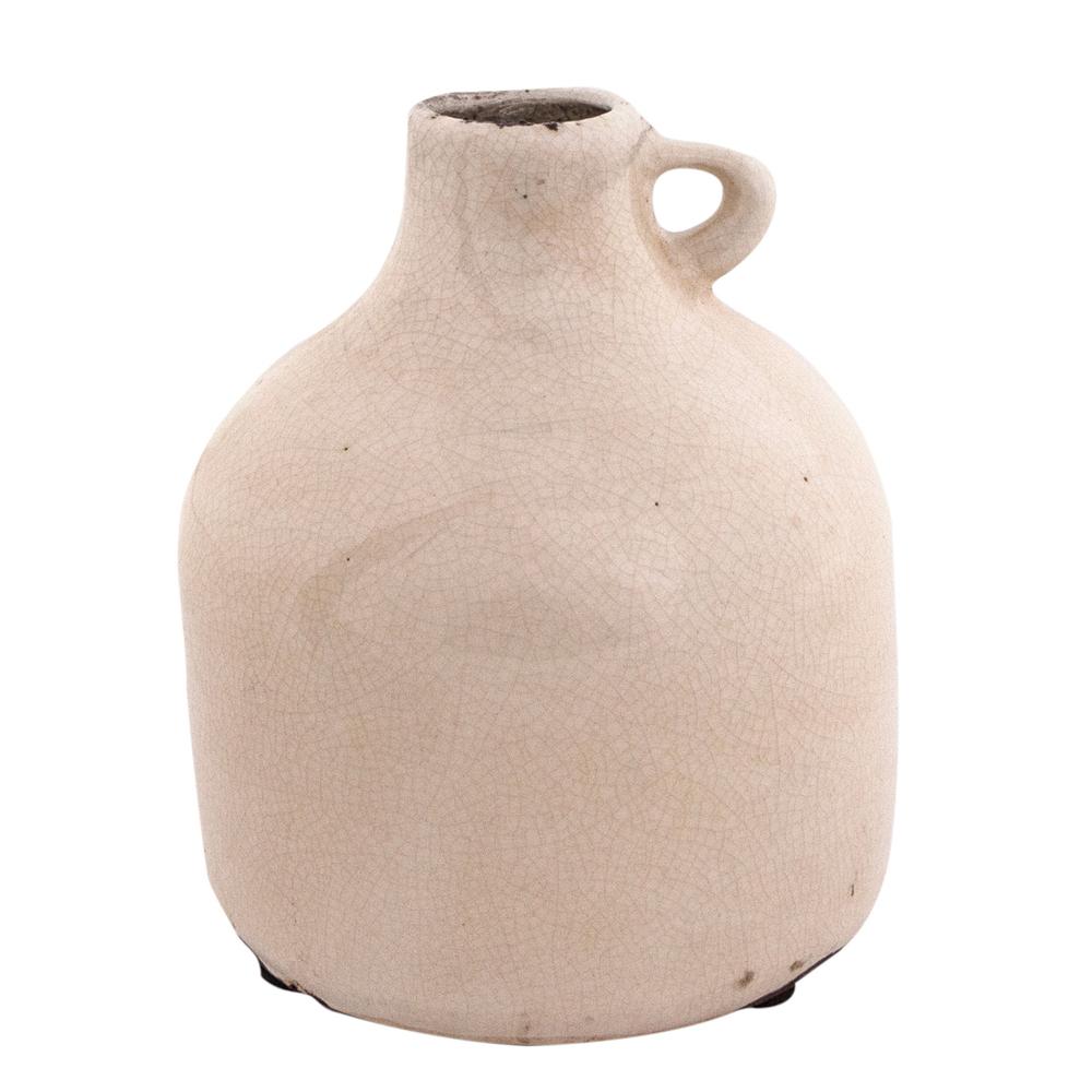 Long Island Living-LIL · Keramik-Vase Krug 14cm · beige – Bild 1