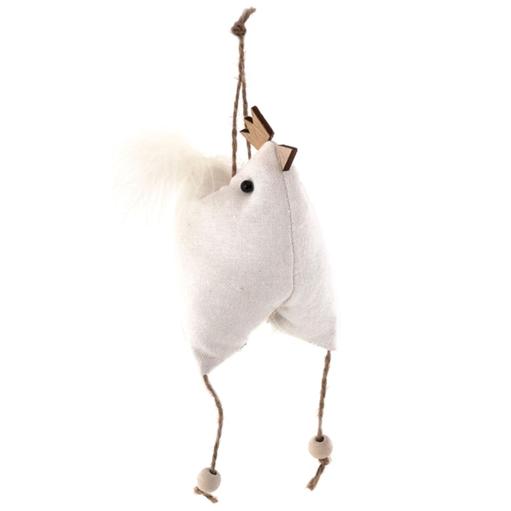 Long Island Living-LIL · Aufhänger Baumwoll-Huhn Küken L 15cm · weiß – Bild 1