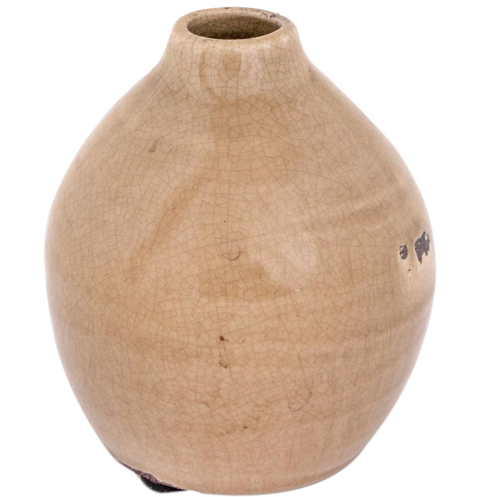 Long Island Living-LIL · Keramik-Vase 10.5cm · braun – Bild 1