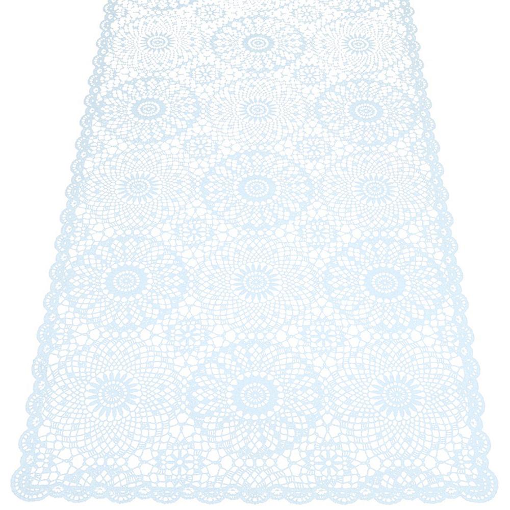 KERSTEN Outdoor-Tischläufer abwischbar wetterfest 'Crochet' 40x150cm Hellblau – Bild 1