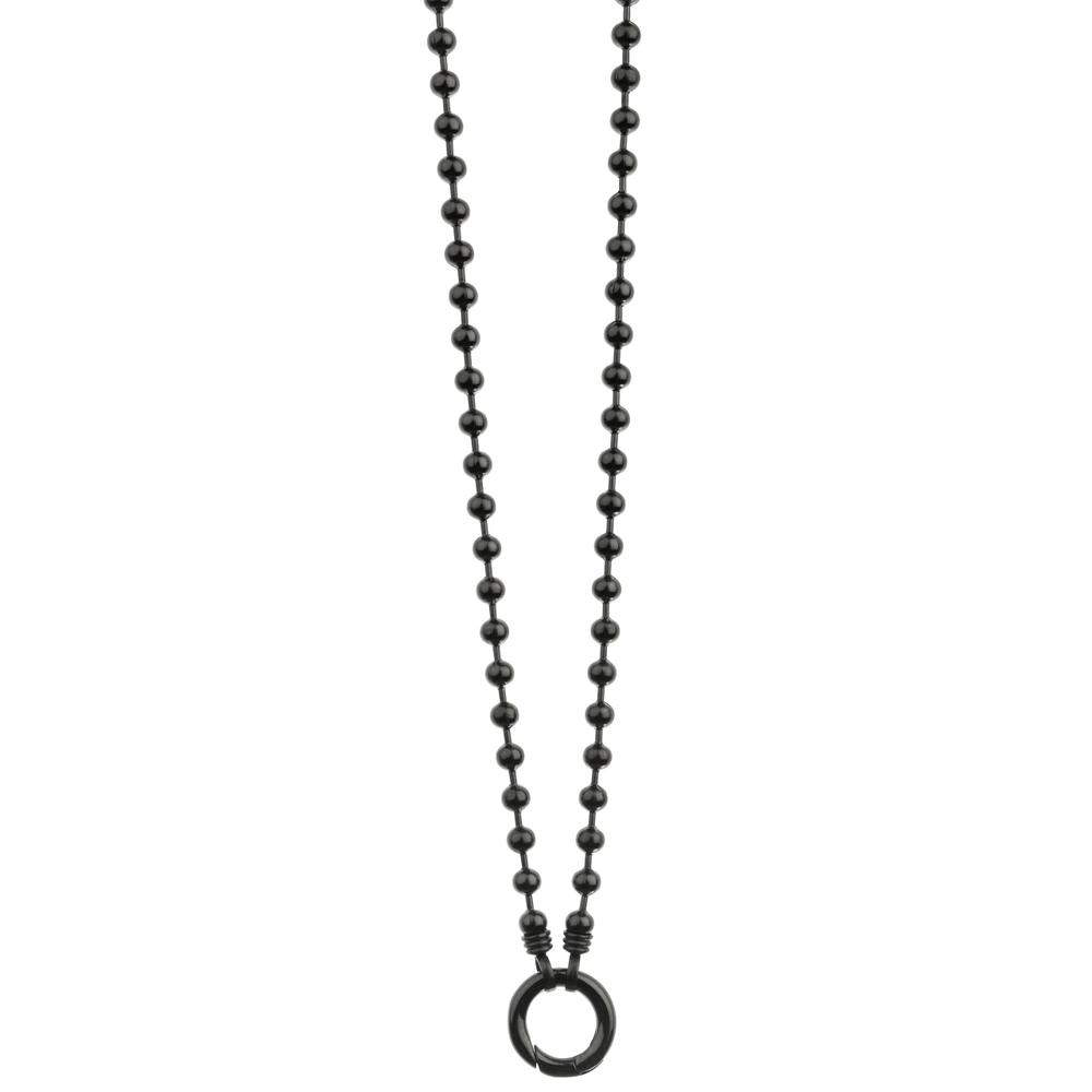 Traumfänger blumenkind · Damen-Kugelkette mit Karabiner Edelstahl 2mm · schwarz SC072B