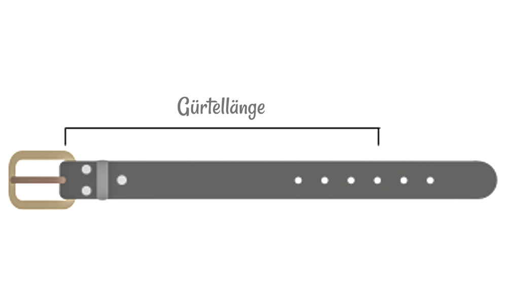 Luca Kayz · Damen-Ledergürtel Wechselgürtel ohne Wechselschnalle GUMP 4cm grau grey – Bild 5