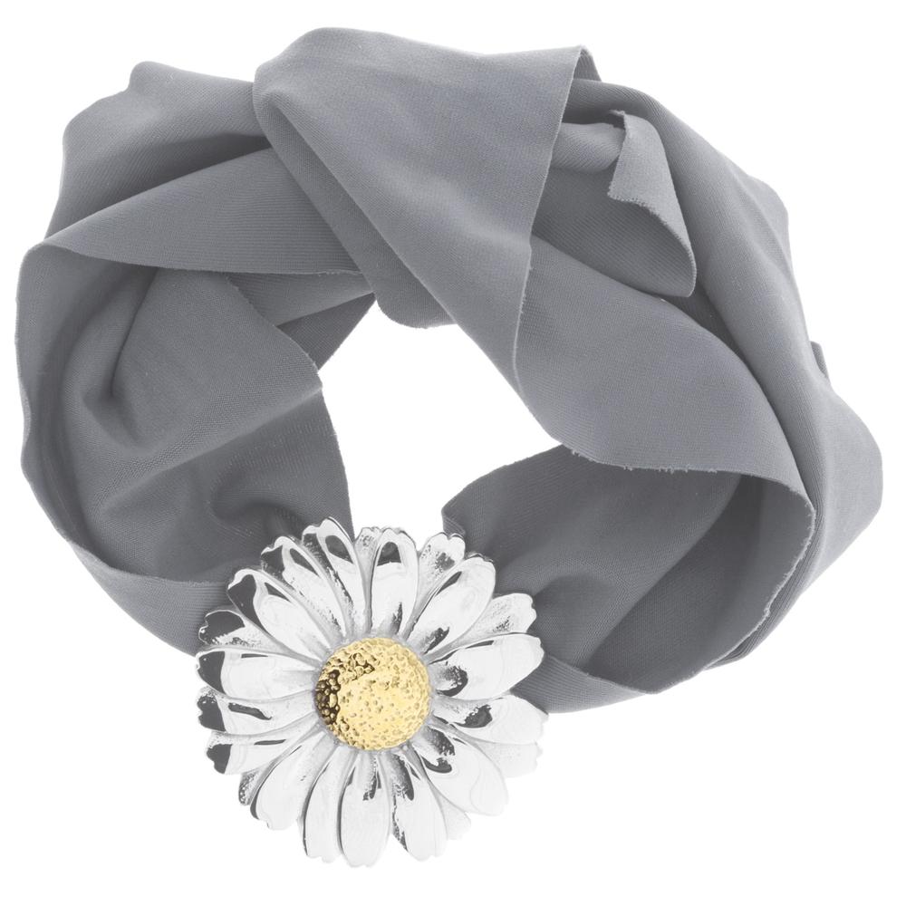 blumenkind · Damen-Stoffarmband mit Blüte Edelstahl · stahl-silber BMBS01M – Bild 5